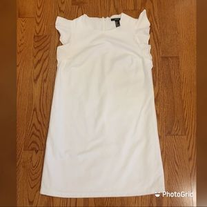 Forever 21 white bodycon with ruffle sleeves
